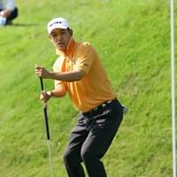 粘りのゴルフで上位に食い込んでいる金鍾徳 日本プロゴルフ選手権大会2日目 金鍾徳