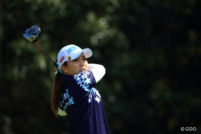 同じ本間ゴルフ契約のイ・ボミをプレーオフで破り、今季初優勝を手にした笠りつ子 2015年 アクサレディス in MIYAZAKI 最終日 笠りつ子