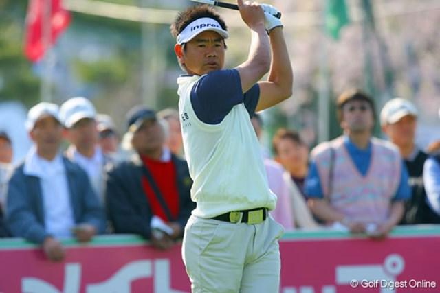 東建ホームメイトカップ1日目 藤田寛之 昨年未勝利だった藤田寛之は、初日5アンダーで首位タイ発進