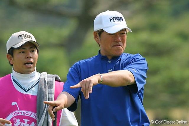 東建ホームメイトカップ1日目 尾崎健夫 シニアツアーでも活躍する尾崎健夫。レギュラーツアーでもまだまだ戦えるパワーを誇る