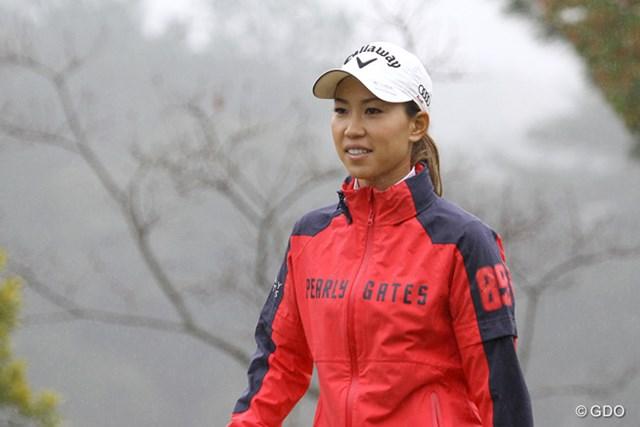 病み上がりながら精力的に調整を重ねる上田桃子。雨に祟られた開幕前日も9ホールをプレー
