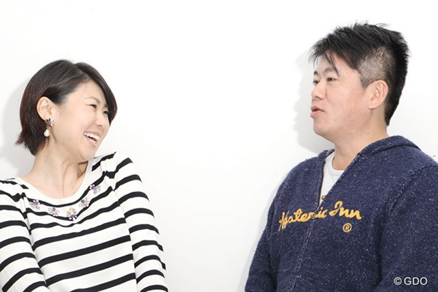 2015年 堀江貴文 古閑美保 対談 初対面だったが、意外と馬の合った様子の2人。同じ九州人のなせるわざ?