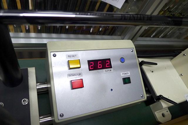マーク試打 藤倉ゴム工業 PLATINUM Speeder 振動数262cpmと50g台のSシャフトとしては、標準よりややしっかり目になっている。