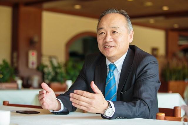 ゴルフ倶楽部成田ハイツリー総支配人の永井秀和さん。語り口からはゴルフコースにかける熱い思いが感じられる。