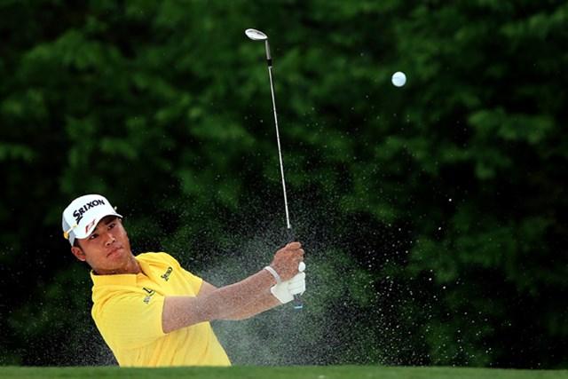 オーガスタで初のイーグルも記録。12位タイで決勝ラウンドに進んだ松山英樹(David Cannon/Getty Images)