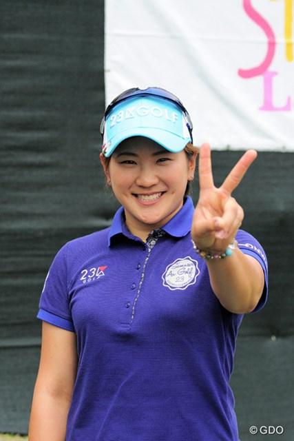 2015年 スタジオアリス女子オープン 最終日 成田美寿々 五輪出場に意欲を見せる成田美寿々が出場権獲得圏にあと一歩まで迫った