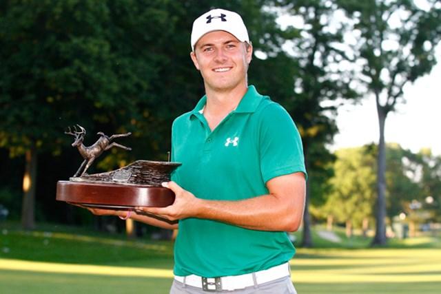 2013年にプレーオフを制して初勝利を挙げたジョーダン・スピース(Michael Cohen/Getty Images)