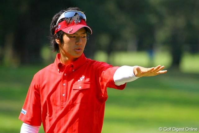 三菱ダイヤモンドカップゴルフ 事前 石川遼 険しい表情でコースチェックに余念がない石川遼。花粉症は大丈夫!?