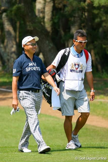 三菱ダイヤモンドカップゴルフ 事前 谷口徹 今シーズン初戦を迎える谷口徹。キャディの清水重憲さんとのタッグも久々に復活!