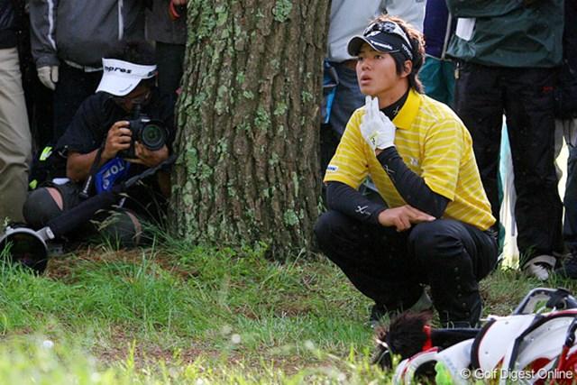 三菱ダイヤモンドカップゴルフ 2日目 石川遼 強風に惑わされ、トラブル続きだった石川遼。この日は神様は守ってくれず…