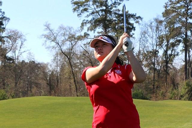 ヒューストン大の加治木悠叶選手(University of Houston Women's Golf)