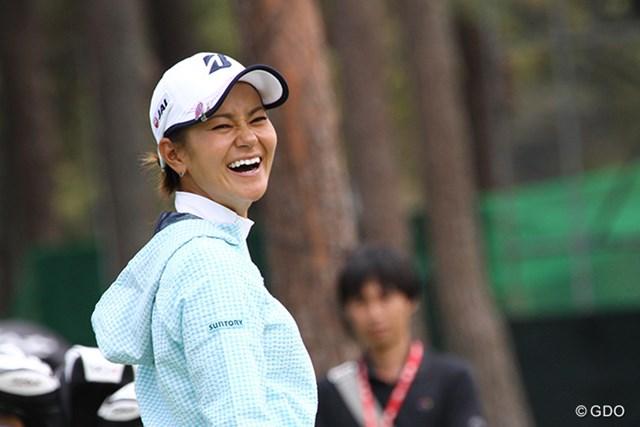 久しぶりの日本ツアー出場。宮里藍はリラックスした最終調整で何度も笑顔をはじけさせた