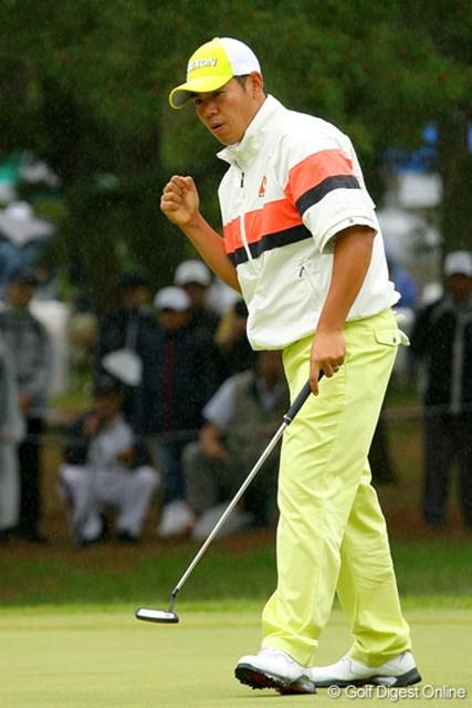 三菱ダイヤモンドカップゴルフ  3日目 甲斐慎太郎 今週月曜には「全米OP」予選会で36Hをラウンド、見事に本戦出場を決めた甲斐は7位タイ