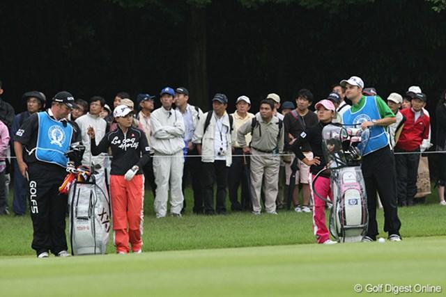 廣済堂レディスゴルフカップ2日目 横峯さくら&有村智恵 明日も最終組でいっしょのさくらちゃんと智恵ちゃん