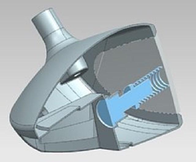 カムイワークスが提案する新しい高反発 カムイワークスが提唱する高反発ヘッドのイメージ