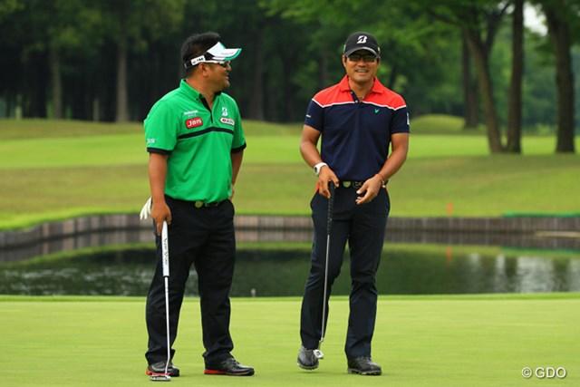 2015年 日本プロゴルフ選手権大会 日清カップヌードル杯 3日目 宮里聖志 宮里優作 国内メジャーでは初めて同組でプレーした宮里兄弟。3日目を終えてスコアは並んだが、最終日は別の組に