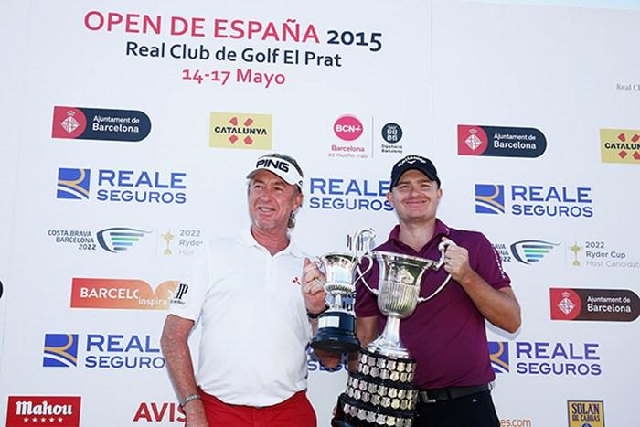 ジェームス・モリソンが5年ぶりとなるツアー2勝目を挙げた(Dean Mouhtaropoulos/Getty Images) 2015年 スペインオープン 最終日 ジェームス・モリソン ミゲル・アンヘル・ヒメネス