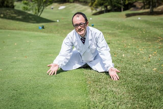洋芝(左)と和芝(右)にゴルフ場の芝生は大別される。