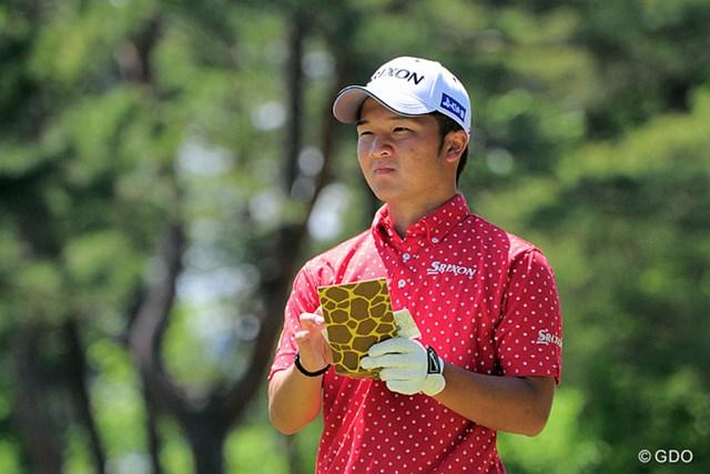 2015年 関西オープンゴルフ選手権競技 初日 香妻陣一朗 OBを叩いてこのスコアやそうです。たくさんたくさんバーディを取ったとお父さんが申しておりました。5位タイ