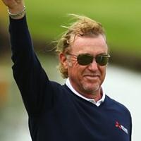 2週続けて今季3つめとなるホールインワン!ミゲル・アンヘル・ヒメネスはやはり役者だ。(Richard Heathcote/Getty Images) 2015年 BMW PGA選手権 3日目 ミゲル・アンヘル・ヒメネス
