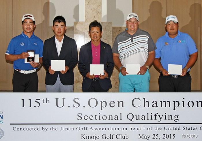 上位5人が「全米オープン」出場権を手に。日本勢では川村昌弘と藤田寛之が突破した 2015年 全米オープン 事前 リャン・ウェンチョン、川村昌弘、藤田寛之、カート・バーンズ、ペク・スクヒョン