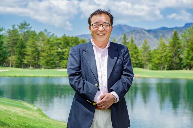 S吉クン14_3章 鳴沢ゴルフ倶楽部の統括グリーンキーパー、渡辺文洋さん。今年はプロツアー開催も決まり、より一層のコース整備に余念がないとのこと。