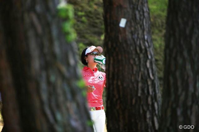 2015年 リゾートトラストレディス 2日目 森田理香子 お疲れでした。残念ながら予選通過に僅かに及ばず