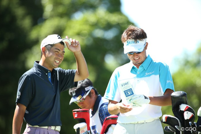 ピリピリしている組より、やっぱり笑いがある組の方がお客さんも楽しいよね 2015年 日本ゴルフツアー選手権 Shishido Hills 初日 池田勇太&星野英正