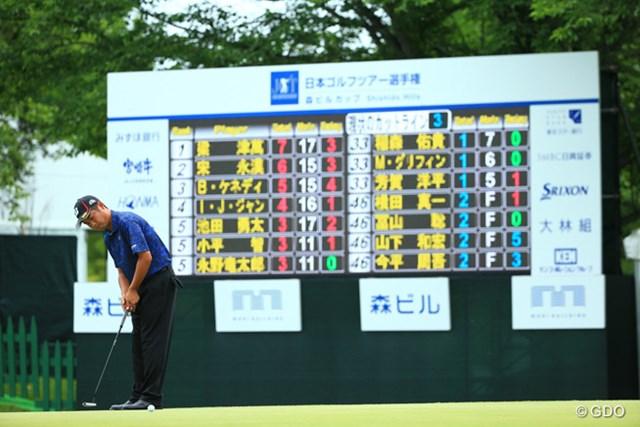 池田勇太ら3人が首位から4打差の3アンダーで、日本勢最上位につけた