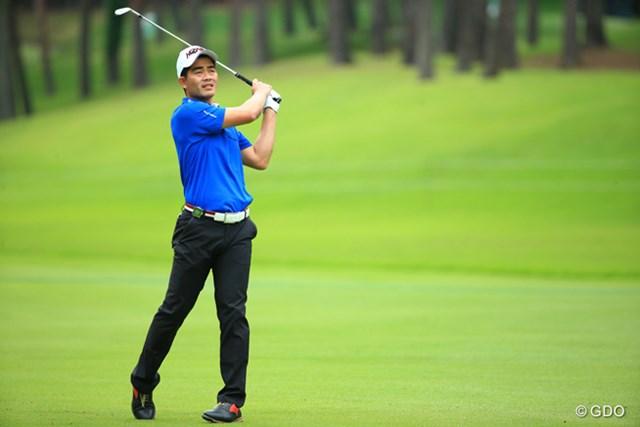 2015年 日本ゴルフツアー選手権 Shishido Hills 2日目 リャン・ウェンチョン スイング改造中というリャン・ウェンチョン。個性的なスイングもそのうち見られなくなってしまう?