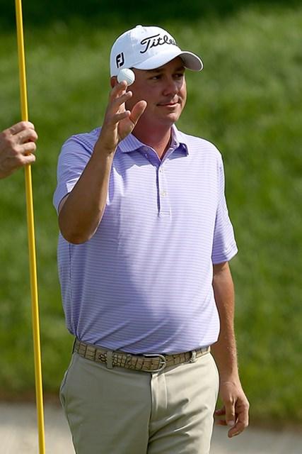 2日間で4つのイーグルを奪ったジェイソン・ダフナー(Andy Lyons/Getty Images)