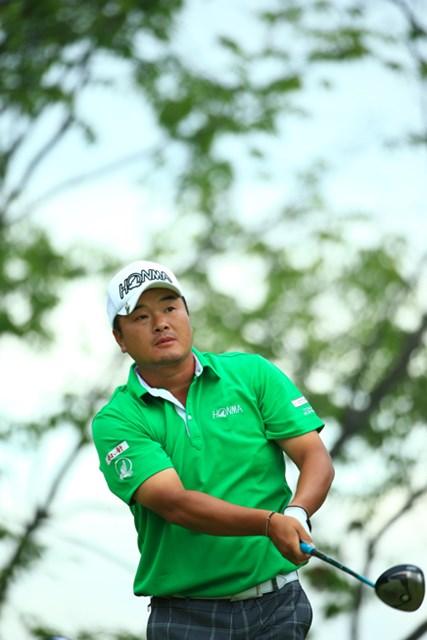 「明日は攻める」という小田孔明。「67か77のゴルフをしたい(笑)」