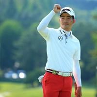 ついに日本ツアー初優勝を成し遂げた梁津萬。メジャー大会で5年シードも獲得した 2015年 日本ゴルフツアー選手権 Shishido Hills 最終日 リャン・ウェンチョン