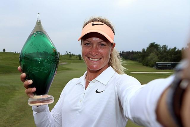 終盤の挽回でスーザン・ペターセンが2シーズンぶりの優勝を手にした(Vaughn Ridley/Getty Images)