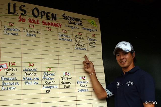 石川遼は手応えのあるラウンドで3年ぶりの全米オープン出場権をもぎとった