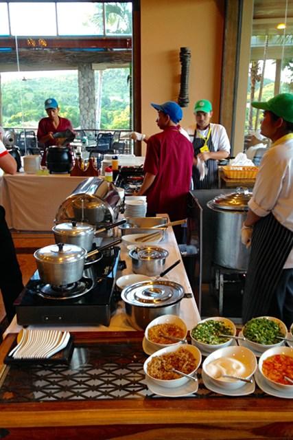 2015年 シンハーコーポレーション タイランドオープン 大好きなタイ風お粥のコーナー。タイ・ラーメンと同じく、自分で調味料や薬味を足して好みの味に調整して食べるのがタイ風