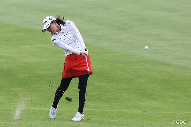 2015年 KPMG女子PGA選手権 初日 横峯さくら ショットを放つ横峯さくら