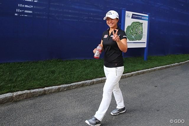 2015年 KPMG女子PGA選手権 初日 キム・セヨン ホールアウト後のキム・セヨン