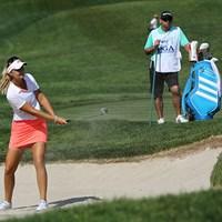 9位タイのアンナ・ノルドクビスト。宮里美香、ステイシー・ルイス、ミシェル・ウィーとLPGA同期です。 2015年 KPMG女子PGA選手権 最終日 アンナ・ノルドクビスト