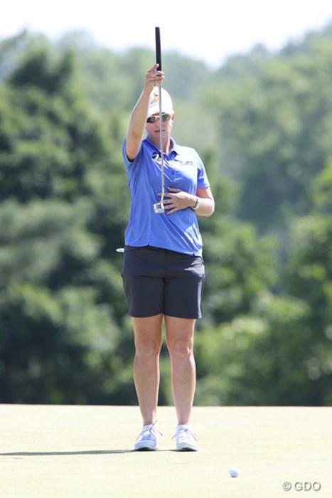 パワー系の若手が活躍する中、カリー・ウェブは7位タイ。さすがです。 2015年 KPMG女子PGA選手権 最終日 カリー・ウェブ