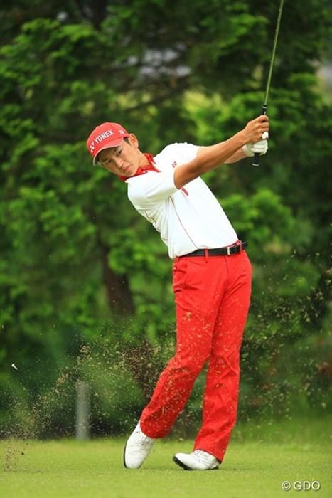 「68」をマークして個人戦首位タイに! トヨタジュニアゴルフワールドカップ2015 初日 岡崎錬