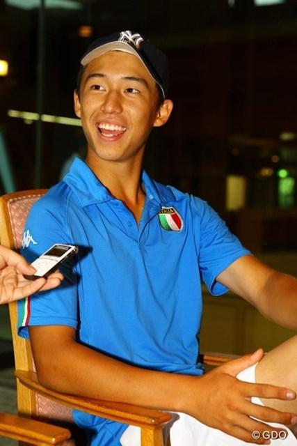 トヨタジュニアゴルフワールドカップ2015 2日目 ゼンジロウ・マツイ ゼンジロウ・マツイは明るく軽やかにプロゴルファーだけにとどまらない将来設計を語った