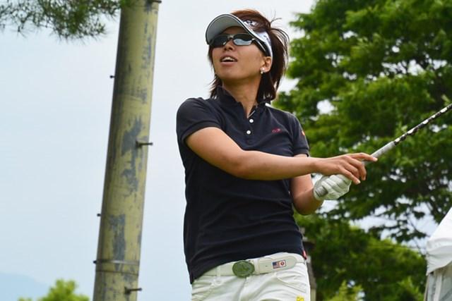 山下乃子が3日間大会の初日を首位タイで終えた※画像提供LPGA