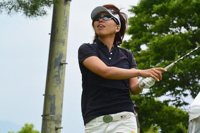 山下乃子が3日間大会の初日を首位タイで終えた※画像提供LPGA 2015年 ルートインカップ 上田丸子グランヴィリオレディース 初日 山下乃子