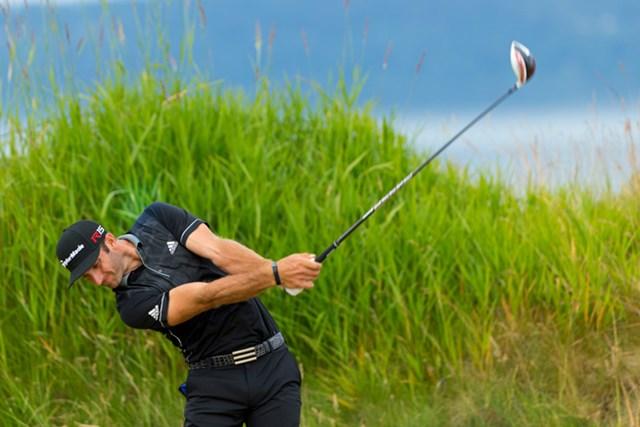 メジャー初優勝を狙うダスティン・ジョンソンが首位タイでスタート(Copyright USGA/Darren Carroll)
