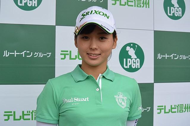 首位タイに立った森美穂*日本女子プロゴルフ協会提供