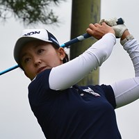 首位タイに浮上した櫻井有希*日本女子プロゴルフ協会提供 2015年 ルートインカップ 上田丸子グランヴィリオレディース 2日目 櫻井有希