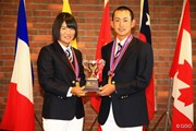 トヨタジュニアゴルフワールドカップ2015 最終日 松原由美 岡崎錬