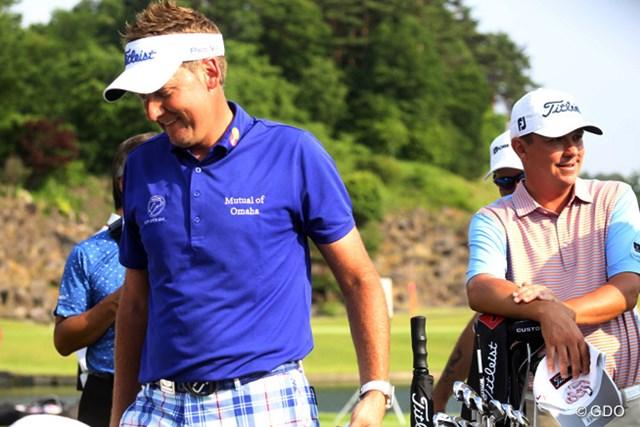実に7年ぶりの来日となったポールター(左)。ダフナー(右)らバリバリの米ツアー選手が日本でプレーする