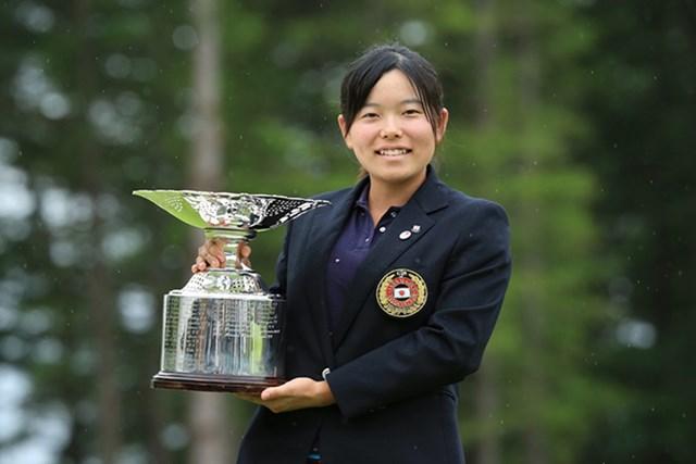 辛勝続きだった勝みなみが、決勝戦は圧勝で「日本女子アマ」を制した※画像提供:日本ゴルフ協会(JGA)